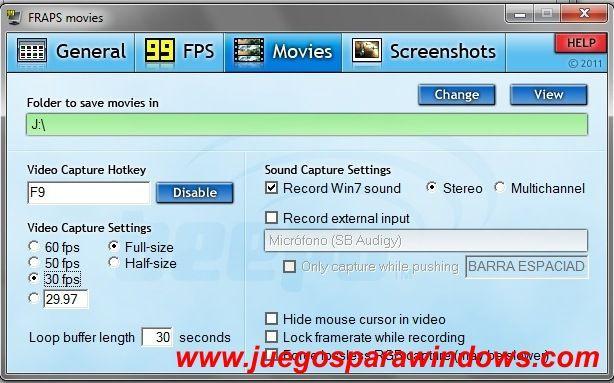 Fraps 3.4.7.13808 (Ingles) Captura Tus Imágenes y Videos De Tus Juegos 6