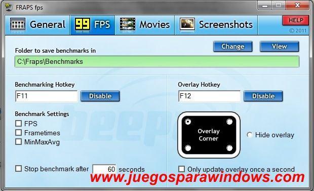 Fraps 3.4.7.13808 (Ingles) Captura Tus Imágenes y Videos De Tus Juegos 4