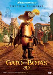 Caratula Cover Gato Con Botas DVD Puss In Boots