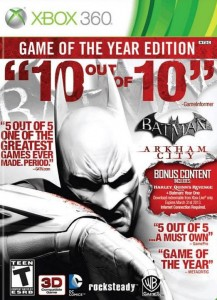Descargar Batman Arkham City Game Of The Year Edition XBOX 360 Cover Caratula