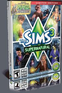 Cover Caratula Los Sims 3 Criaturas Sobrenaturales ESPAÑOL PC