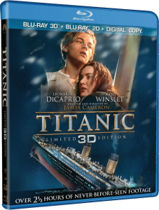 Cover Caratula Titanic 3D Bluray 1080p