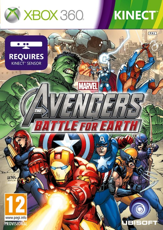 Cover Caratula Marvel Avengers Battle For Earth XBOX 360