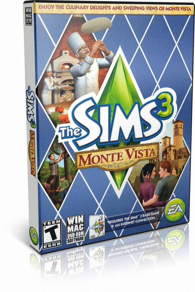 Cover Caratula Sims 3 Monte Vista PC