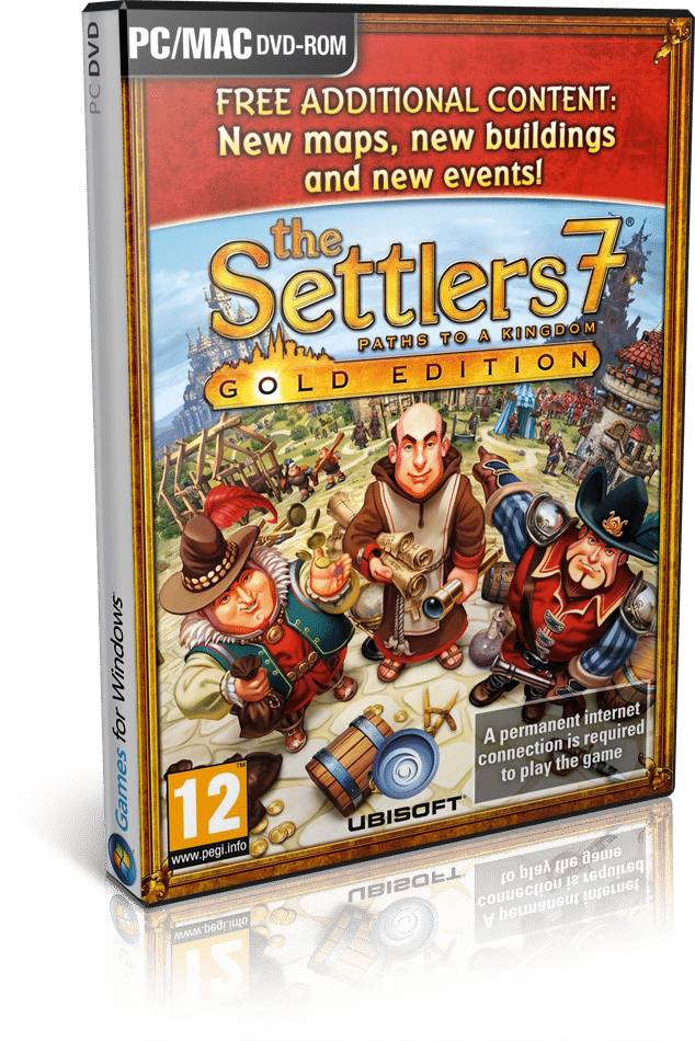 Cover Caratula The Settlers 7 Paths To a Kingdom Deluxe Gold Edition PC