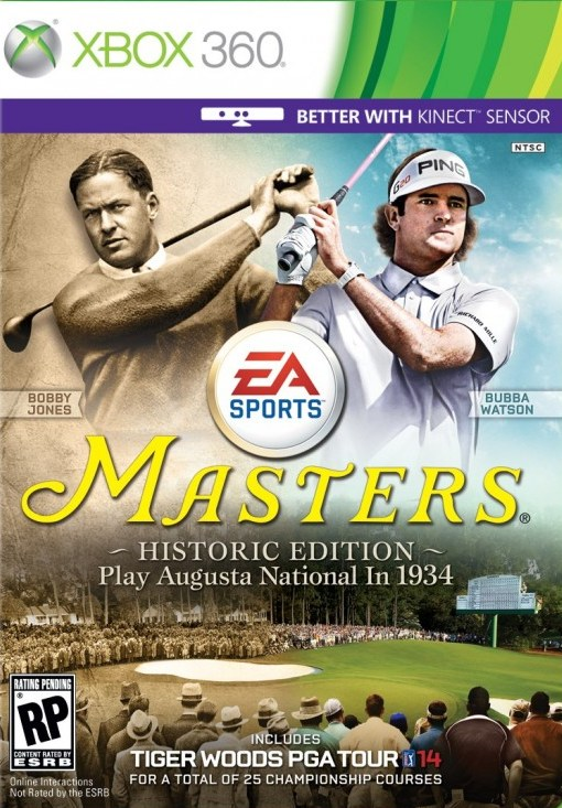 Cover Caratula Tiger Woods PGA Tour 14 Masters Historic Edition XBOX 360