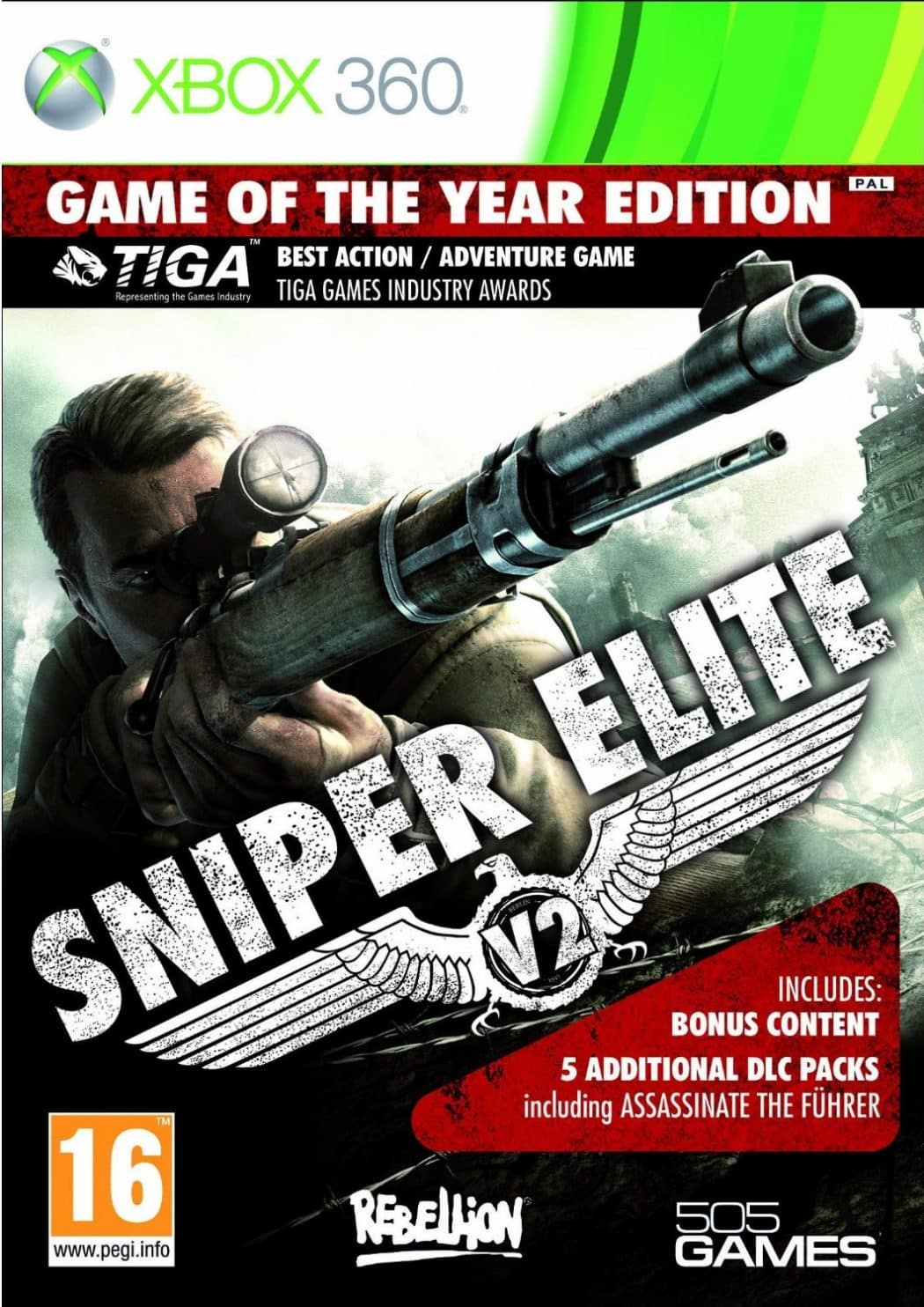 Cover Caratula Sniper Elite V2 GOTY Game Of The Year Edition XBOX 360