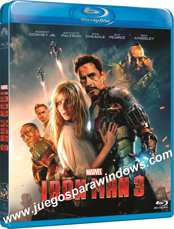 Iron Man 3 2013 BRRip 720p HD Dual Español Latino Ingle...
